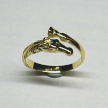 Anello testa di Cavallo Oro giallo