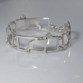 Bracciale 4 sezioni Whippet con Diamanti e Zaffiri