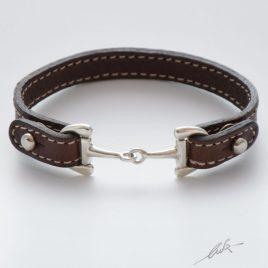 Bracciale cinturino pelle morso medio