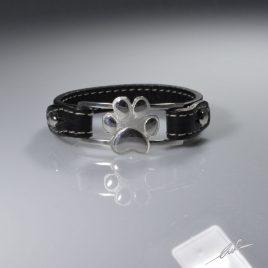 Bracciale cinturino in vera pelle orma