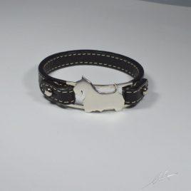 Bracciale  cinturino in vera pelle Scottish