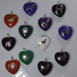 Ciondoli cuore in pietre dure