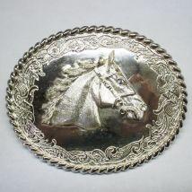 Fibbia con testa di cavallo
