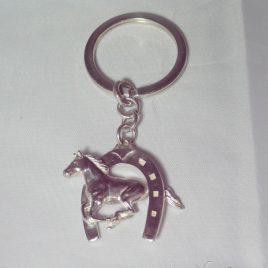 Portachiavi ferro con cavallo al galoppo
