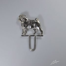 Spilla portanumero Carlino 3D di 5 cm