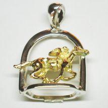 Ciondolo staffa con cavallo al galoppo