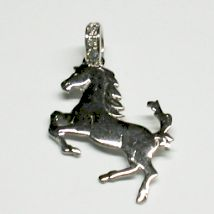Ciondolo cavallino rampante con Brillantini