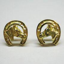 Orecchini ferro con testa di cavallo