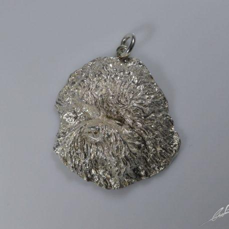 cio testa bolognese 3d di 5,5 cm circa cesellata a mano