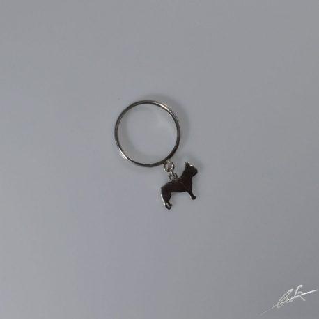 anellino bull francese pendente