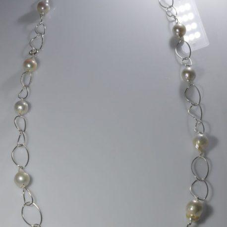 collana girocollo perle con nucleo giusta