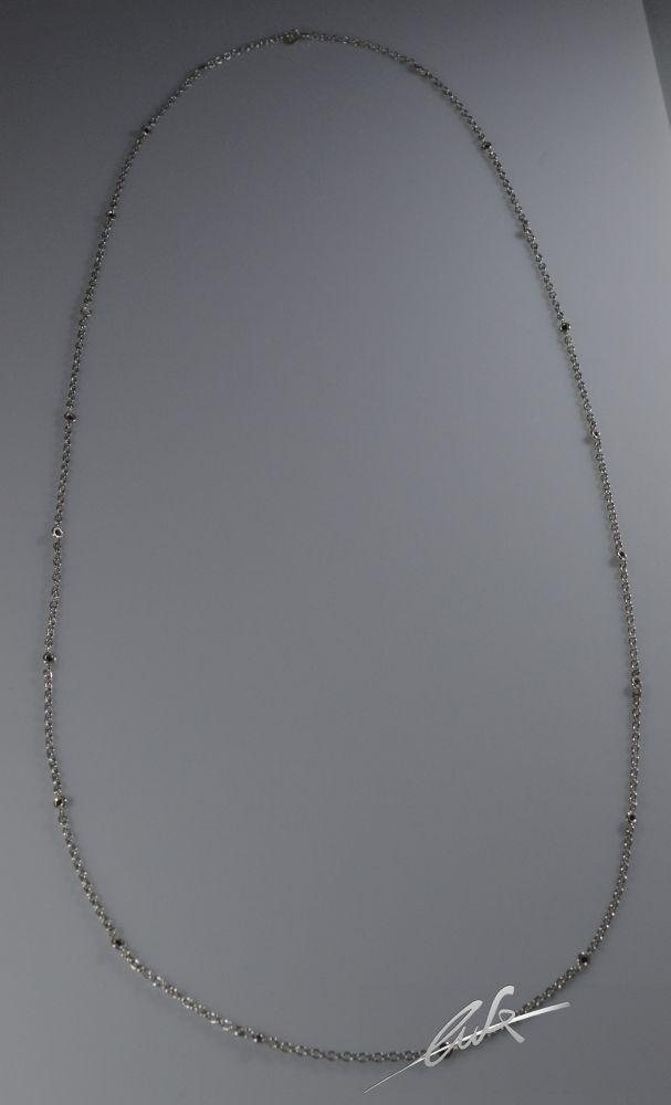 taglia 40 0bb6e ebc5d Collana di 90 cm con 21 Diamanti neri naturali di 0,60 Kt