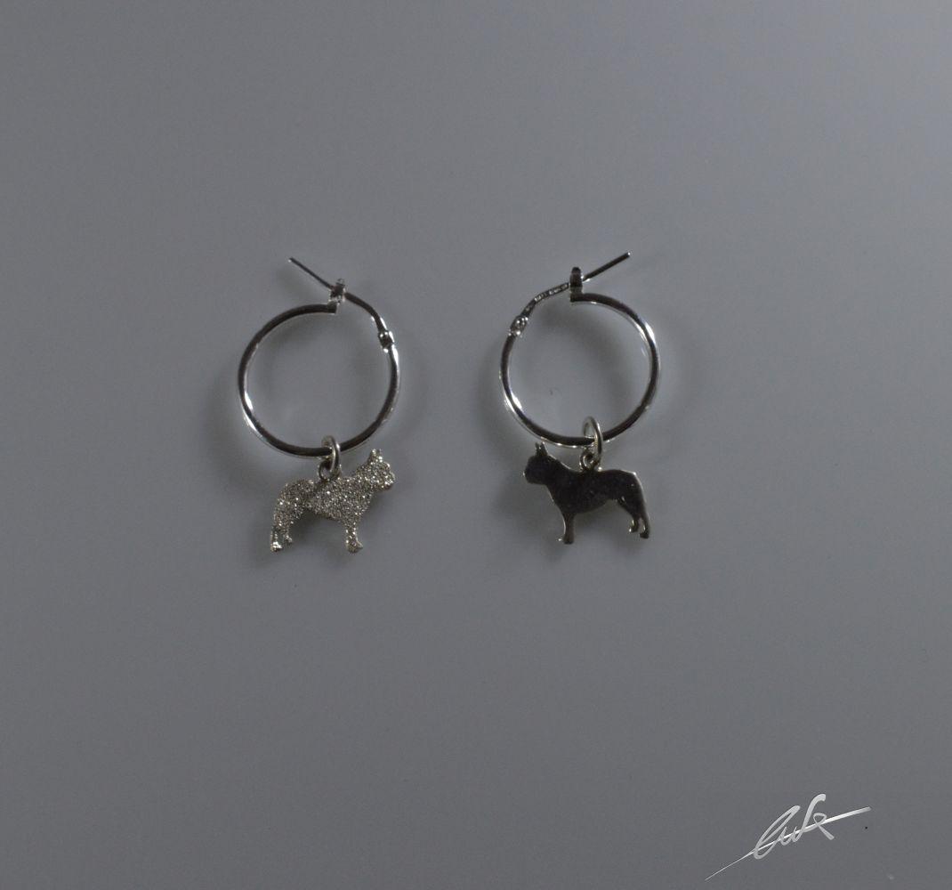 data di uscita scarpe eleganti San Francisco Orecchini a cerchietto Bull francese di 15 mm di diametro – Luce srl
