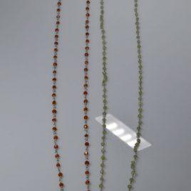 Collane a rosario 90 cm di pietre dure Crisoprasio e Corniola di varie misure (anche su richiesta)