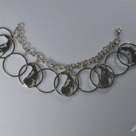 Bracciale 10 cerchi Rhodesian con Diamanti naturali