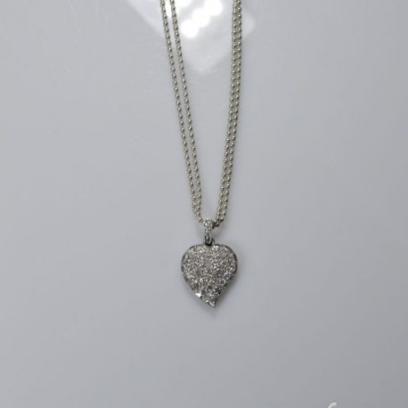 ciondolo cuore diamanti
