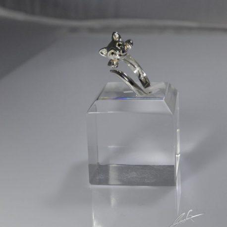 an testa gatto 3d diamanti neri