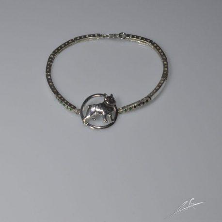 br semirigido bull francese 3d con smeraldi