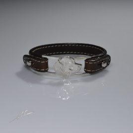 Bracciale cinturino in vera pelle testa Labrador 3D