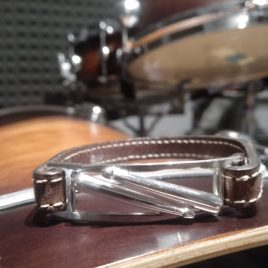 Bracciale cinturino in vera pelle punte Bacchette in parallelo