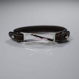 Bracciale cinturino in vera pelle Punte bacchette da batteria sovrapposte