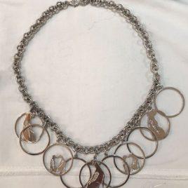 Girocollo 10 cerchi Rhodesian con schiena di Diamanti naturali interamente fatto a mano
